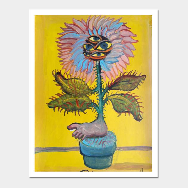 Flower eyes - Flower - Wall Art   TeePublic