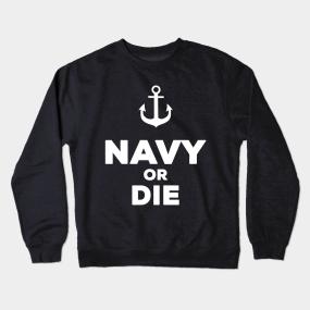 f65b9d9afa20 Navy Crewneck Sweatshirts   TeePublic