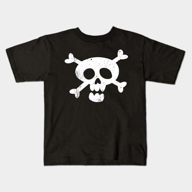 Kids Childrens Skull and Crossbones Pirate Skeleton T-shirt 5-13 Years
