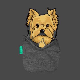 Yorkie FU Pocket T-Shirt