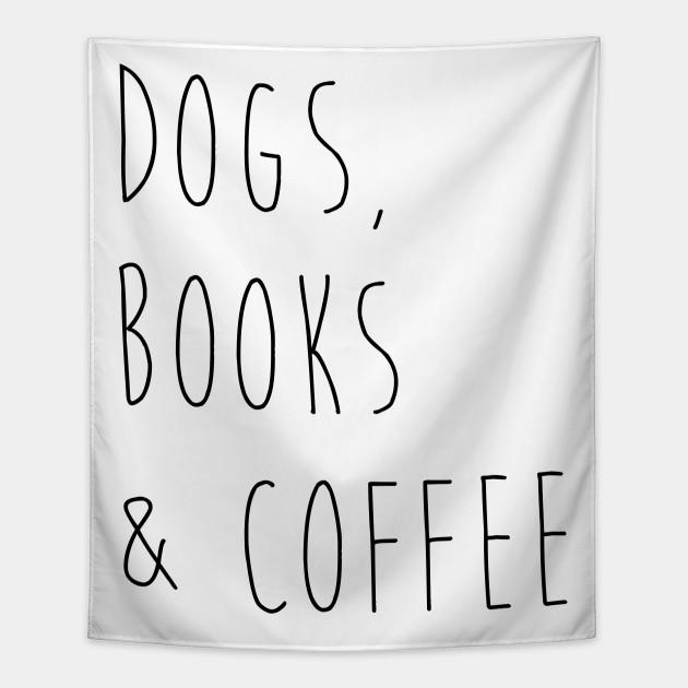 dogs books coffee dog lover gobelin pl