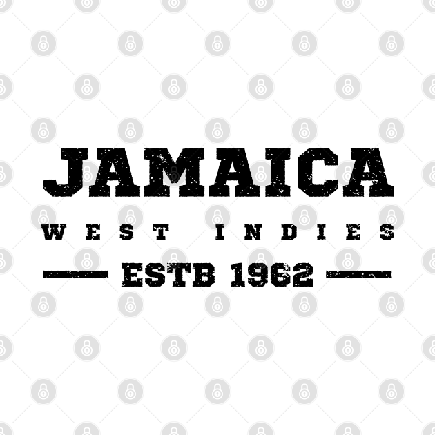 Jamaica Estb 1962 West Indies Patriotic Design