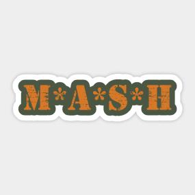 7dfb80b2 Mash TV Show Series Sitcom 70s 1970s 4077th Vintage Sticker
