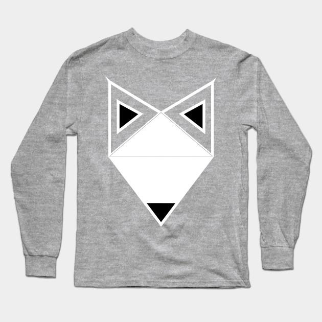 bbf6be1f1 Fox t shirts kids, White Face Fox Animal Triangle shaped Clever kids T-Shirt  Long Sleeve T-Shirt