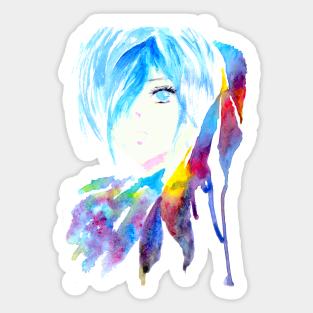 Touka Kirishima Stickers Teepublic