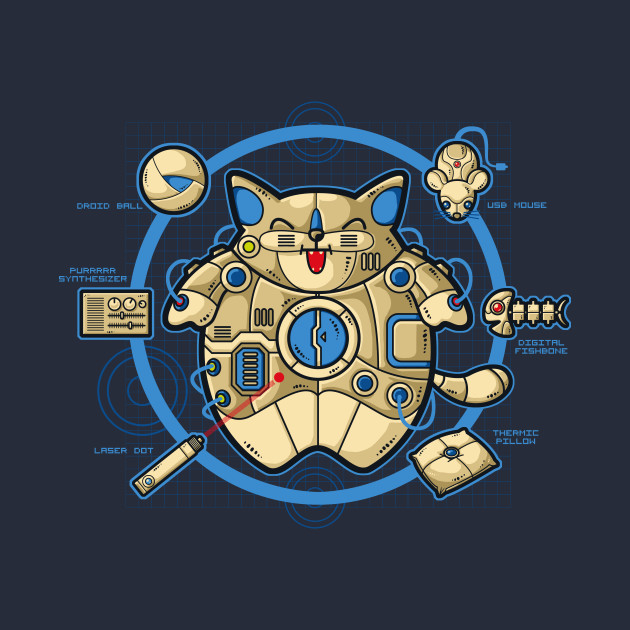 Hi-Tech Cat T-Shirt