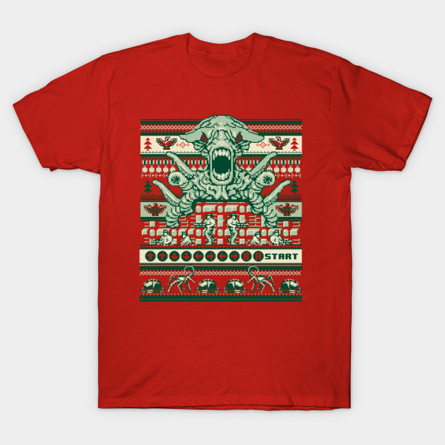 A Contra Family Christmas - Video Games - T-Shirt | TeePublic