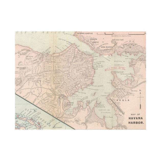 Vintage Map Of Havana Cuba Havana Map Phone Case TeePublic - Vintage map of cuba
