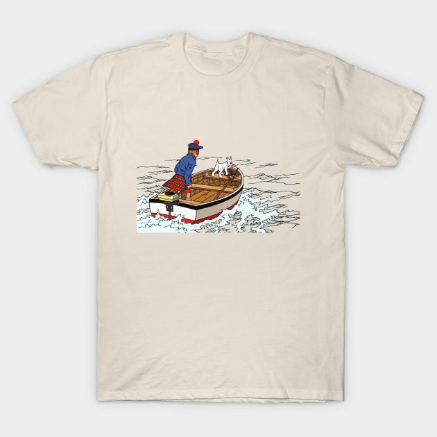 Tintin Black Island - Tintin - T-Shirt  8c41d287c
