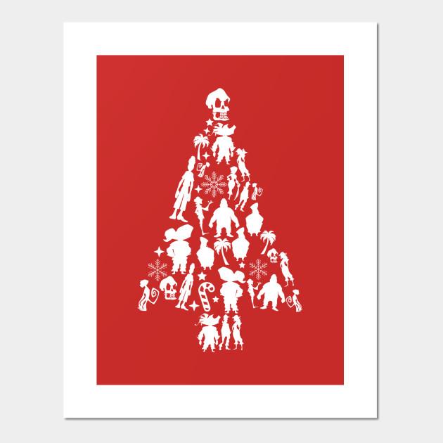 Island Christmas Tree.Monkey Island Christmas Tree Silhouette