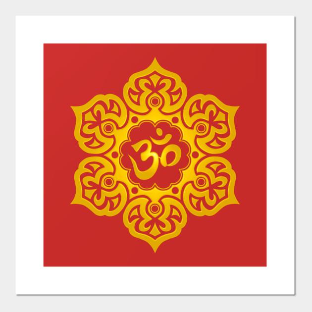 Yellow lotus flower yoga om lotus flower posters and art prints 763191 1 mightylinksfo