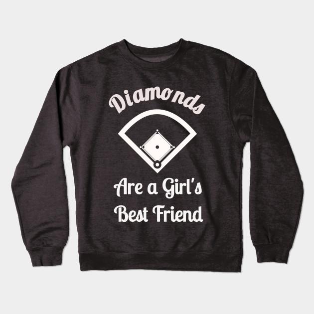 8791b955e Softball - Diamonds are a Girl's Best Friend - Womens Softball ...