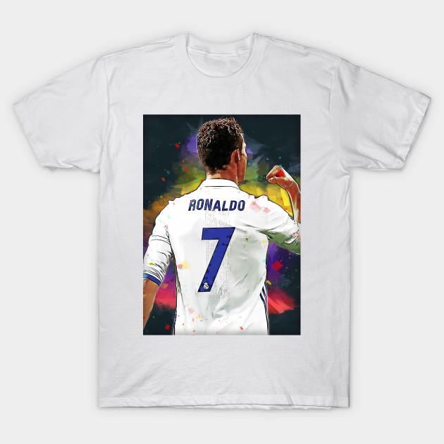 Cristiano Ronaldo Real Madrid Digital Painting Cristiano Ronaldo Cr7 T Shirt Teepublic