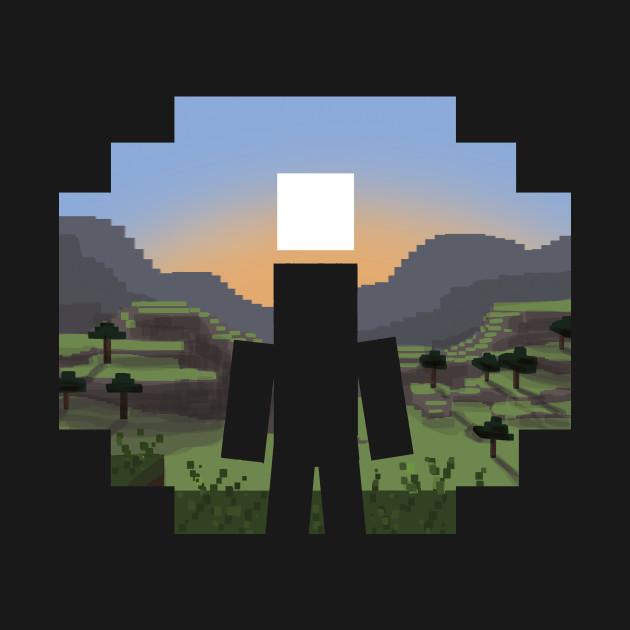 Minecraft landscape minecraft t shirt teepublic for Garden designs minecraft
