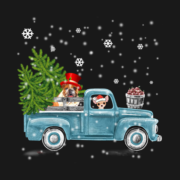 Dog Pickup Truck Christmas