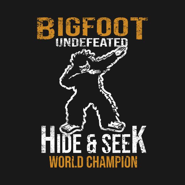 d40b154a5 ... Bigfoot T-shirt Undefeated Hide & Seek Dabbing Sasquatch Yeti Gift