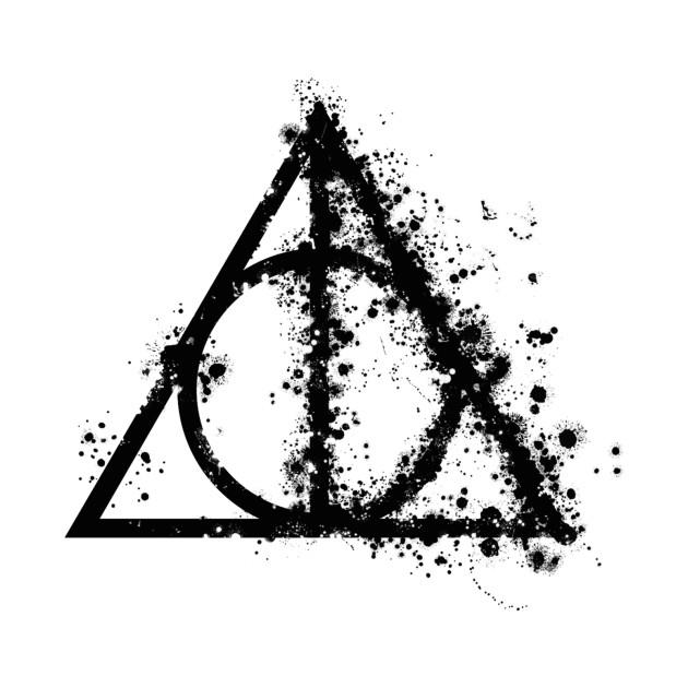 Harry Potter Deathly Hallows Half Paint Drops Black