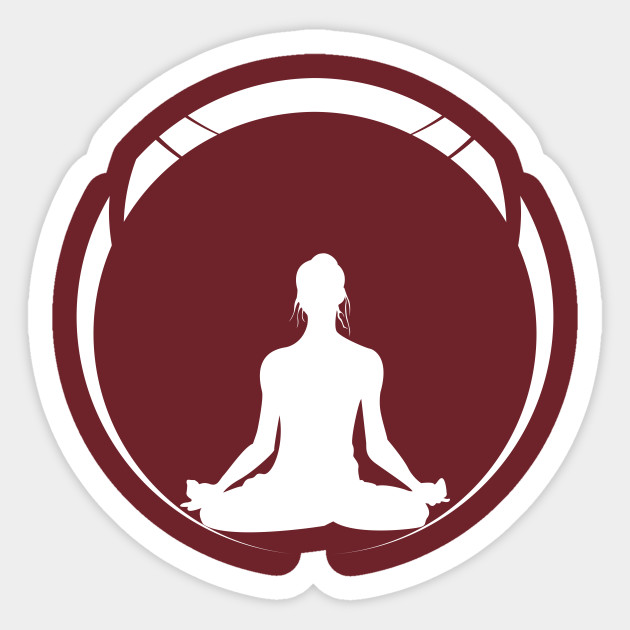 Yoga Silhouette Meditation Funny Yoga Sticker Teepublic