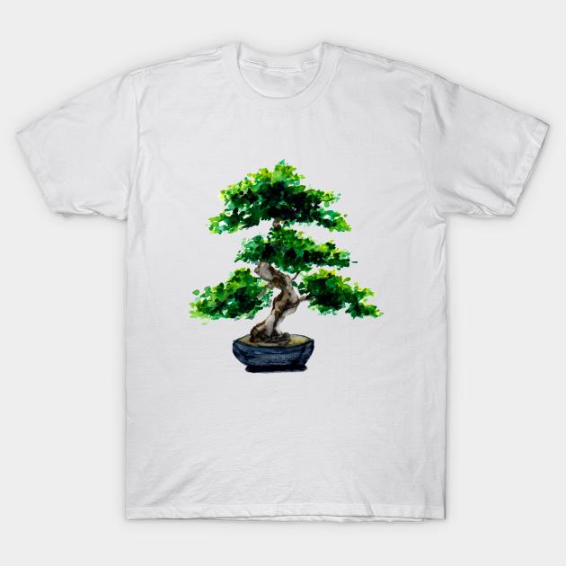Japanese Watercolor Bonsai Tree Bonsai Tree T Shirt Teepublic