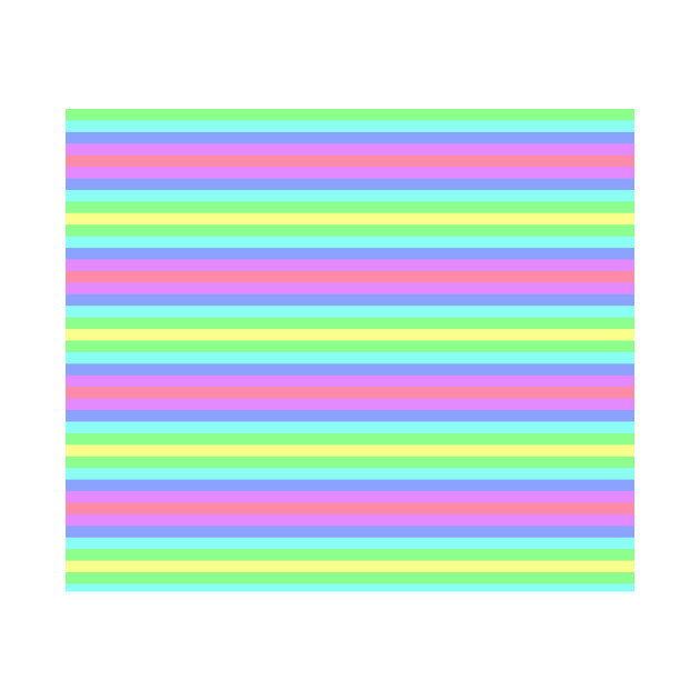 Horizontal Rainbow Stripes