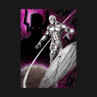 Silver Surfer and Galactus t-shirts