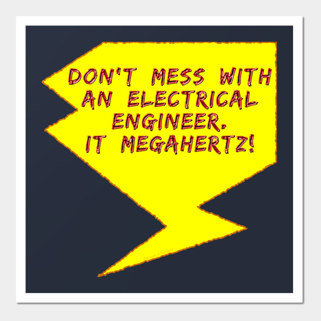 Lightning Bolt Electrical Engineer - Electrical Engineers - Wall Art ...