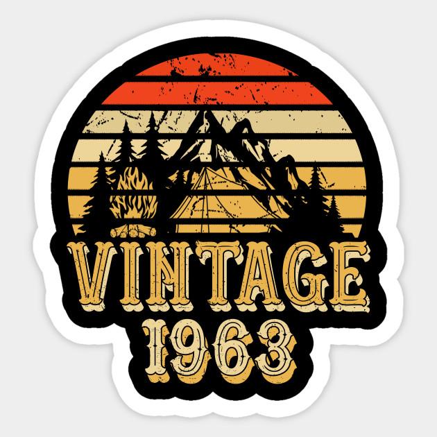 Born In 1963 55th Birthday Years Vintage Rentro Sticker