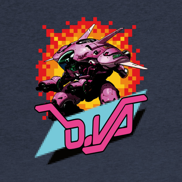 D.VA Pixel and halftone Shirt