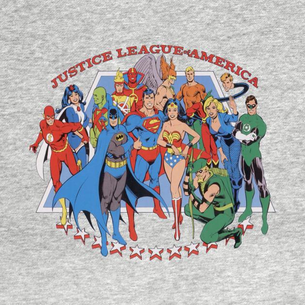 Justice For America Adult Crewneck Sweatshirt Justice League of America