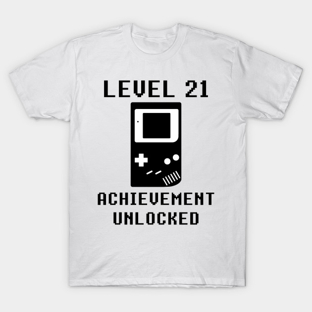 LEVEL 21 ACHIEVEMENT UNLOCKED Console Retro Video Games 21st