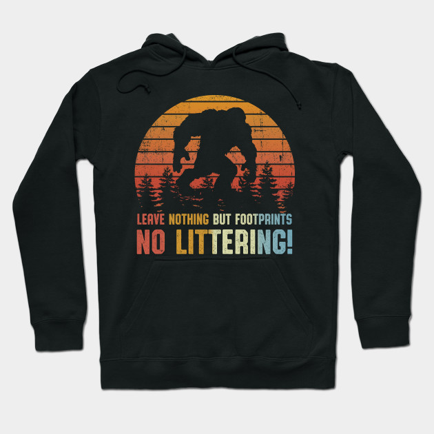 Littering and Vintage Adult Hooded Sweatshirt