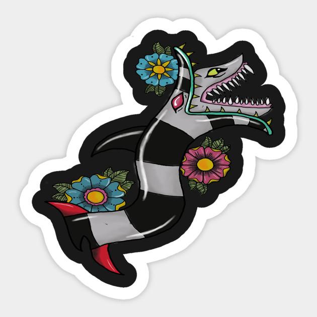 Beetlejuice Snake Design Beetlejuice Sticker Teepublic