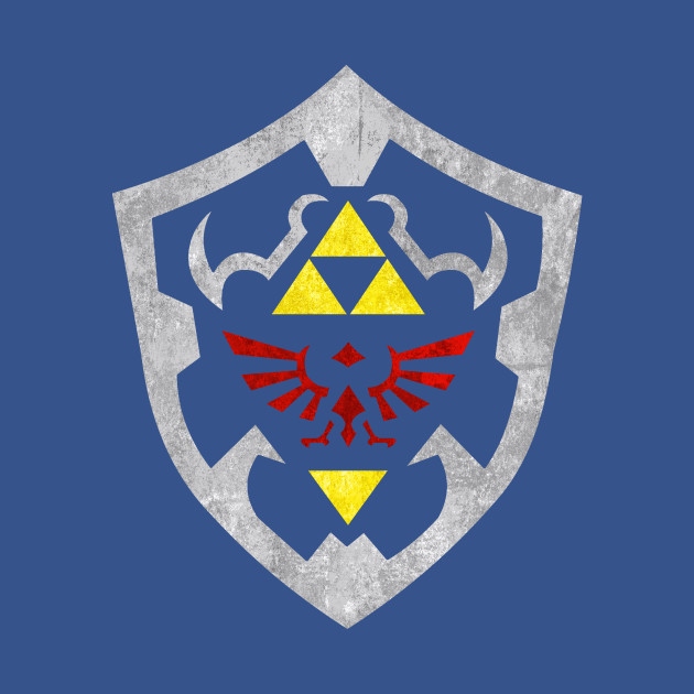 hylian shield zelda throw pillow teepublic