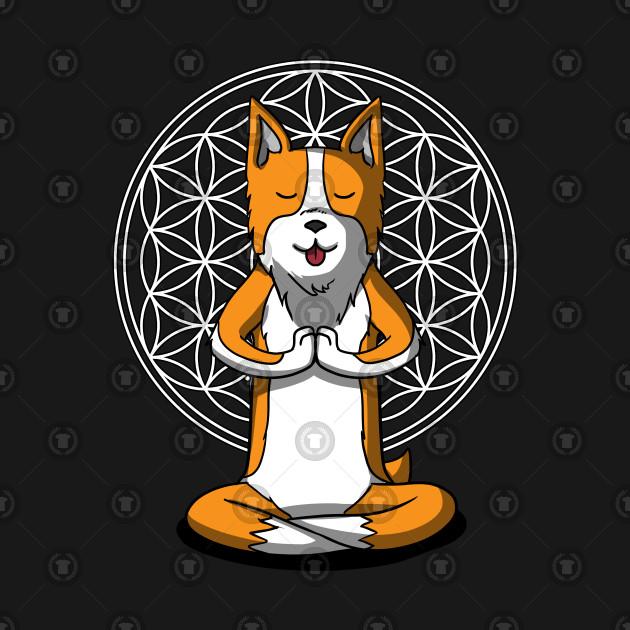Corgi Dog Yoga Lover Spiritual Zen Meditation