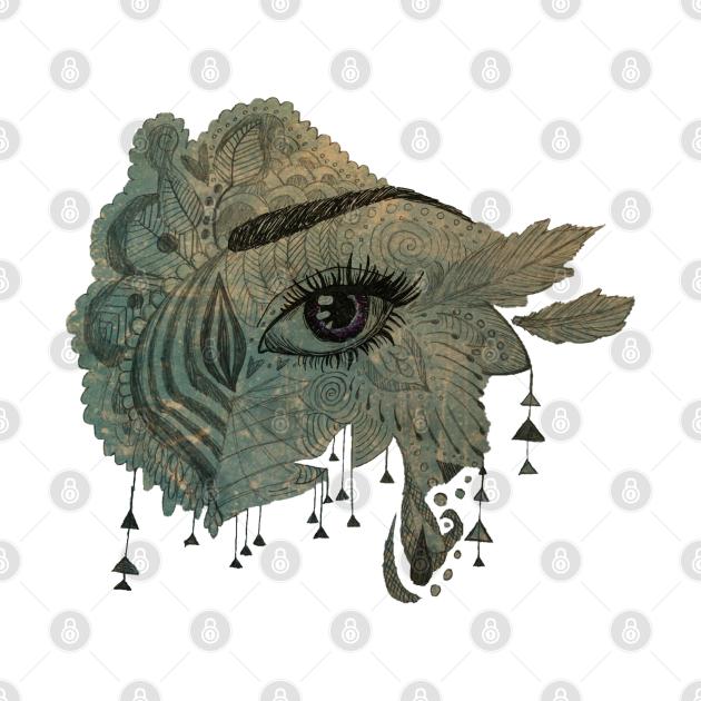 Eye Zentangle - Grunge