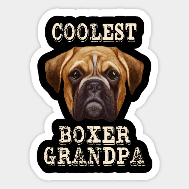 boxer grandad novelty t shirt all dog breeds available