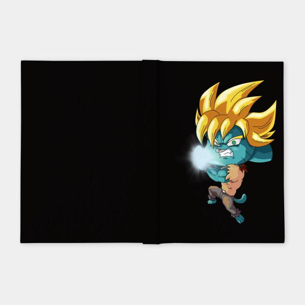 Gumball Super Saiyan Gumball Super Saiyan Notebook Teepublic