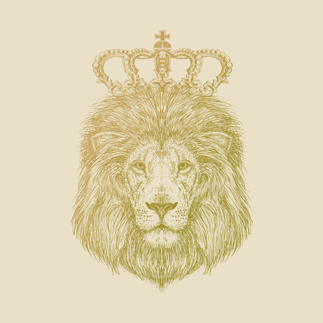 lion sketch with crown tshirt royal king lion head