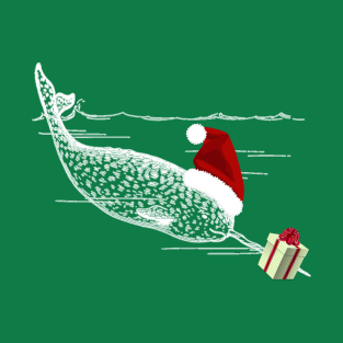 narwhal christmas awesome gift t shirts teepublic