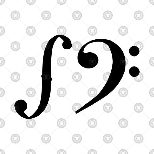 F clef and F (black)