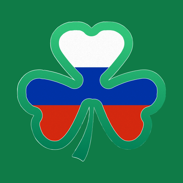 Russian Flag for st patricks day, Irish Shamrock
