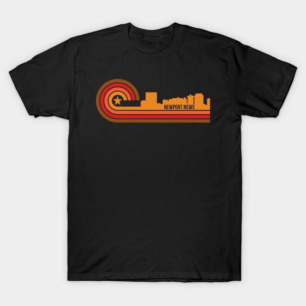 Retro Style Newport News Virginia Skyline Newport News T Shirt