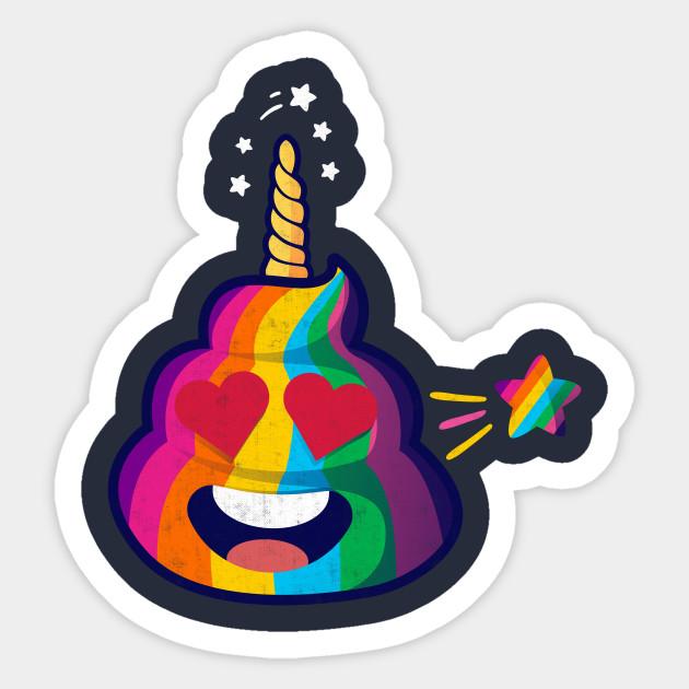 Cute & Magical Rainbow Unicorn Poop Emoji
