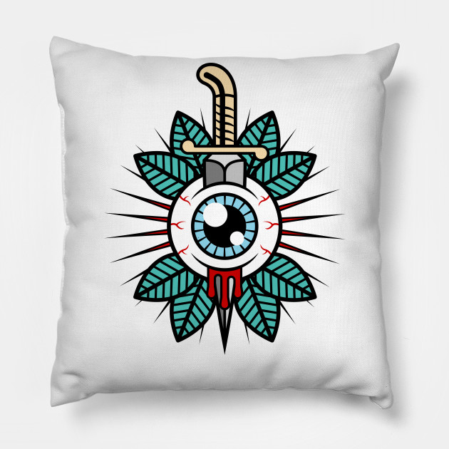 Eyeball Tattoo - Tattoo - Pillow | TeePublic