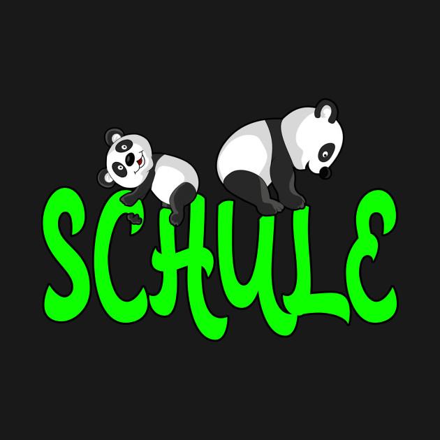 Panda School Gift Idea Design Motif
