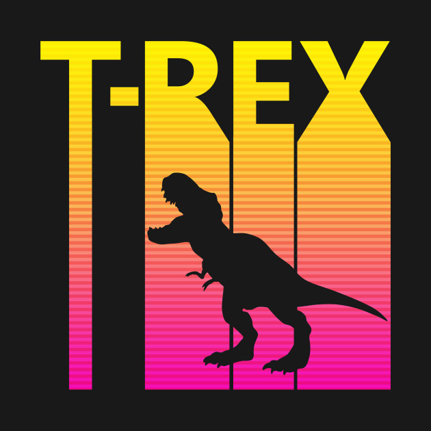 Retro 1980s Tyrannosaurus Rex
