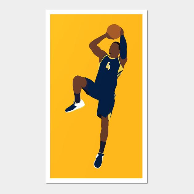 Victor Oladipo Fadeaway - Victor Oladipo - Wall Art   TeePublic