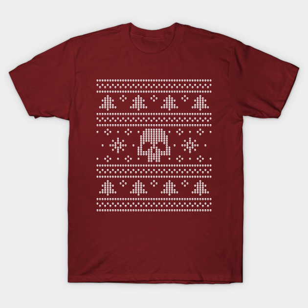 Ugly Christmas Sweaters Patterns.Ugly Christmas Sweater Skulls Pattern