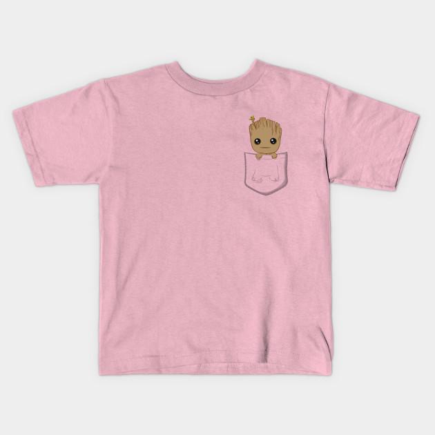7a5ba806a7 Pocket Groot - Baby Groot - Kids T-Shirt
