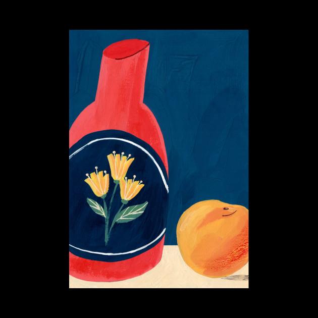 Still Life with a Peach
